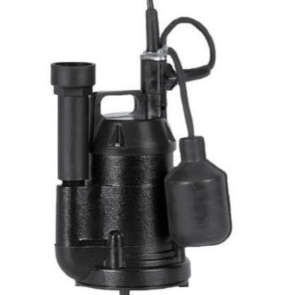 Little Giant SP25A - 1/4 HP Aluminum Submersible Sump Pump w/ Tether Float Switch