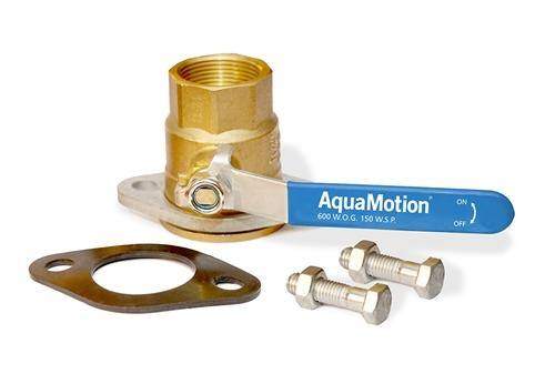 AquaMotion SO75T Threaded Isolation (shut-off) Flanges, 3/4