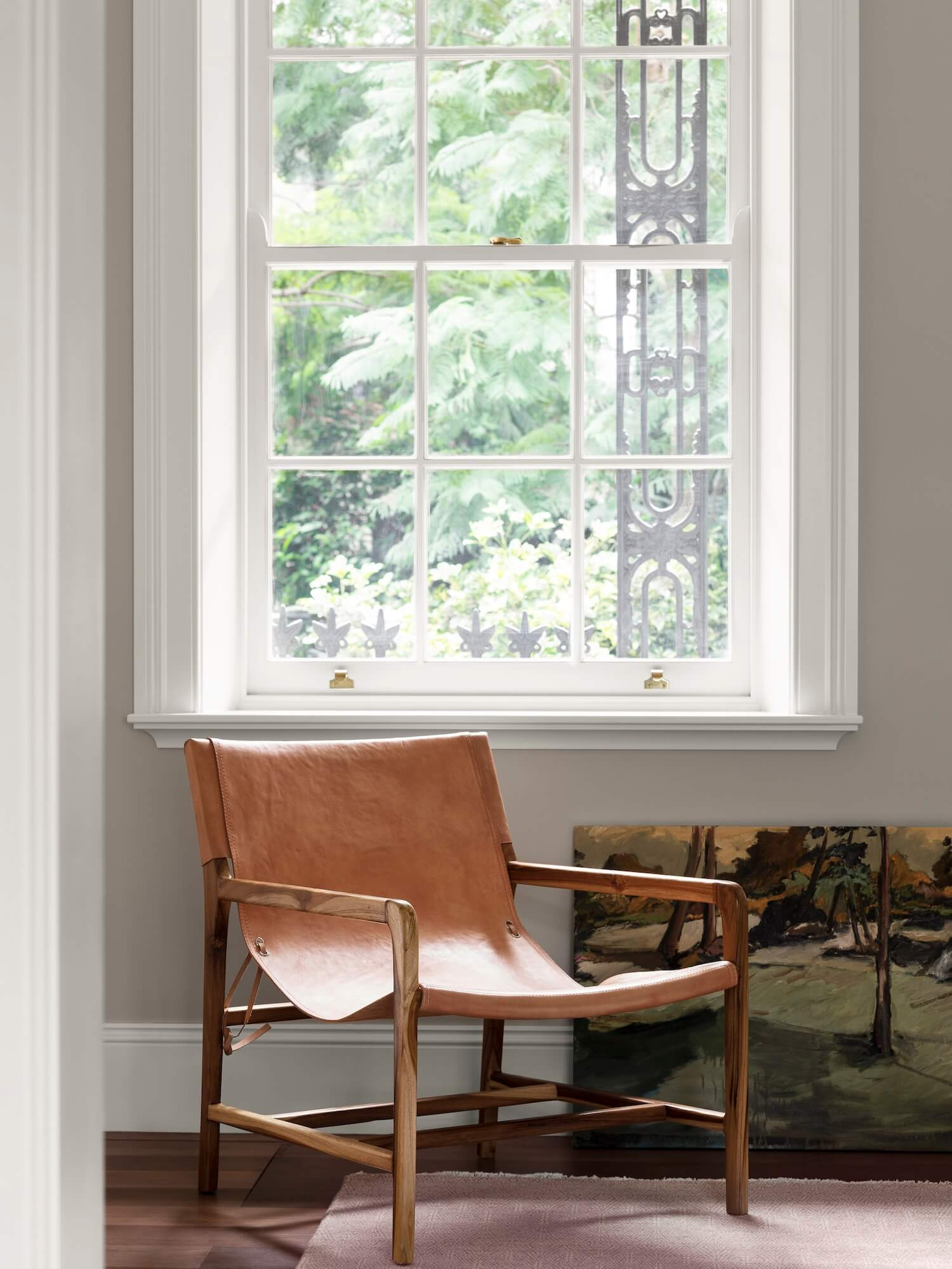 Studio May Moss Chair Nude Light Leather