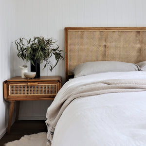 Alva Rattan Bedside Table