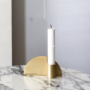 Arc Brass Candle Holder
