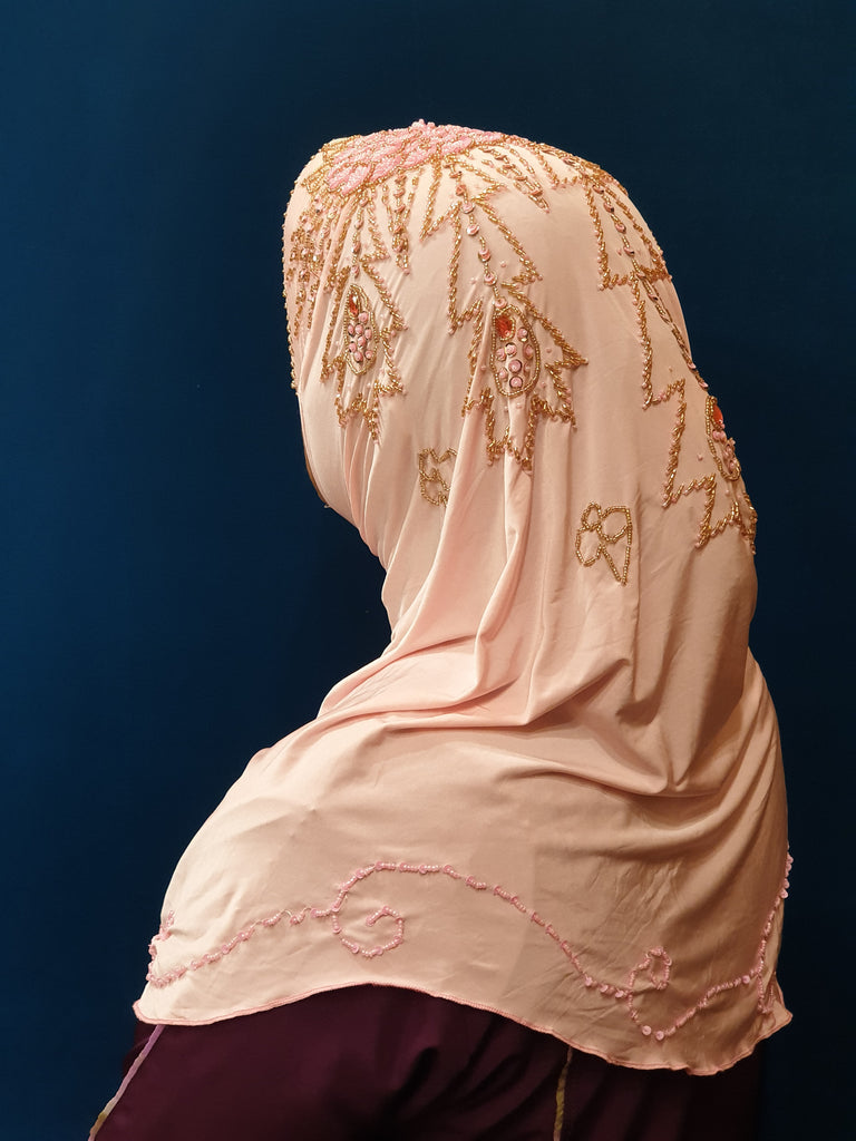 Fancy Instant Pinless Hijab Easy to Wear Women Hijab Baby Pink
