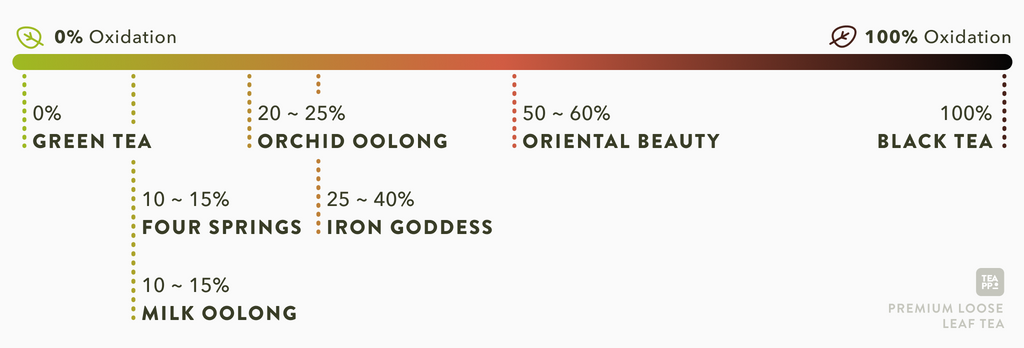Understand tea oxidation and oolong tea types with Teappo