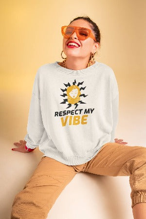 RESPECT WOMENS SWEATSHIRT - WHITE