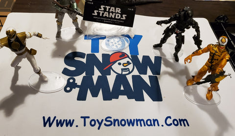 Star Display Stand Figures For 6 Inch (Clear or Black ) - Toy Snowman