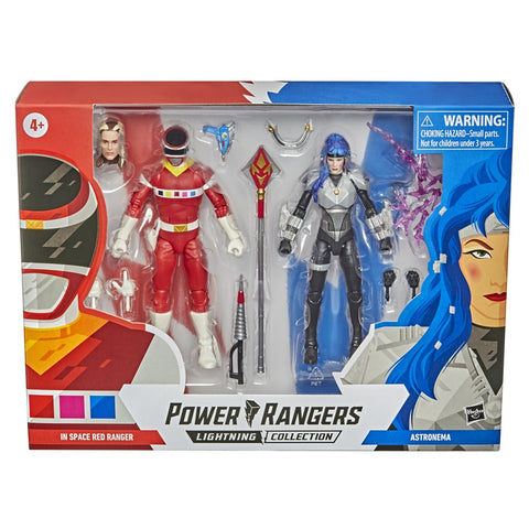 (Batch 2 Preorder) Power Rangers Lightning Collection In Space Red Ranger vs Astronema 2-Pack 6-Inch Premium Collectible Action Figure Toys - Toy Snowman