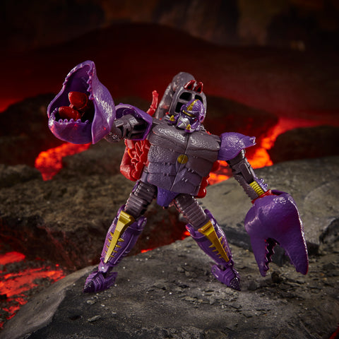 (preorder ETA July/Aug) Transformers Toys Generations War for Cybertron: Kingdom Deluxe WFC-K23 Predacon Scorponok Action Figure - Toy Snowman