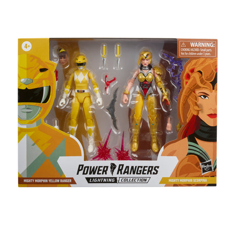 (preorder ETA OCT)  Power Rangers Lightning Collection Mighty Morphin Yellow Ranger Vs. Scorpina 2-Pack - Toy Snowman