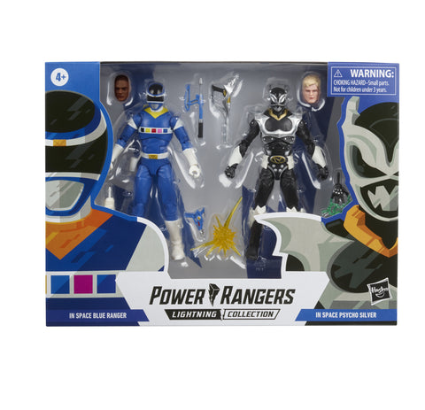 (preorder ETA OCT ) Power Rangers Lightning Collection In Space Blue Ranger Vs. Silver Psycho Ranger - Toy Snowman