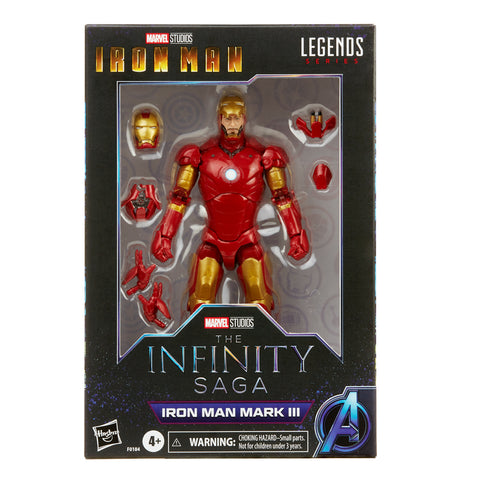 (preorder ETA Aug/Sept ) Hasbro Marvel Legends Series 6-inch Iron Man Mark 3 - Toy Snowman