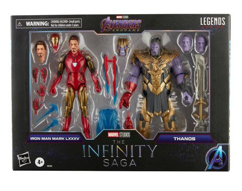 (preorder Aug/Sept) Hasbro Marvel Legends Series 6-inch Iron Man Mark 85 vs. Thanos Infinity Saga - Toy Snowman