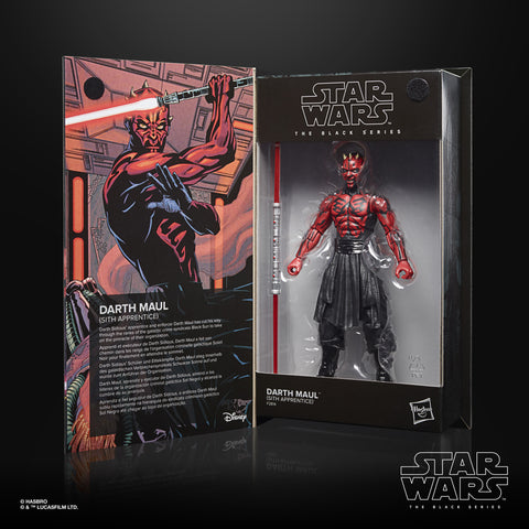 (preorder ETA May-July) Star Wars The Black Series Darth Maul (Sith Apprentice) - Toy Snowman