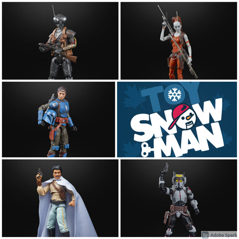 "(preorder ETA Aug) Star Wars: The Black Series 6"" Wave 40 Set of 5 Figures - Toy Snowman"
