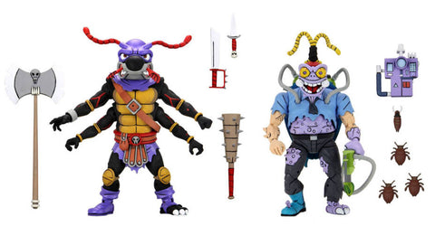 "(preorder Fall 2021 )Neca TEENAGE MUTANT NINJA TURTLES (CARTOON) – 7"" SCALE ACTION FIGURE – ANTRAX AND SCUMBUG - 2 PACK - Toy Snowman"