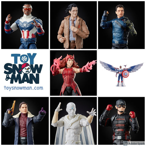 (preorder June) Disney THE FALCON AND THE WINTER SOLDIER Wave 7 Figures + BAF - Toy Snowman