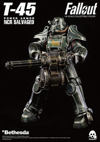 ThreeZero Fallout T-45 NCR Salvaged Power Armor - Toy Snowman