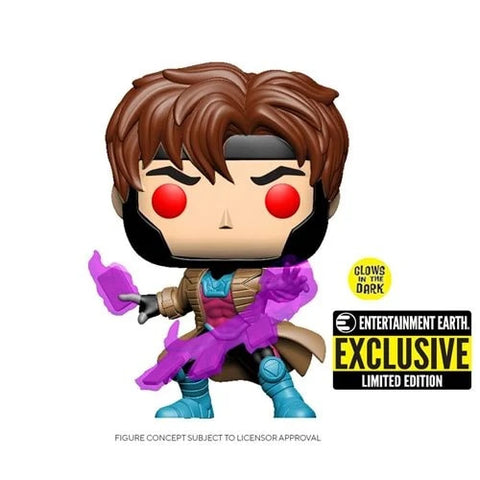 X-Men Gambit Glow-in-the-Dark Pop! Vinyl Figure - Entertainment Earth Exclusive - Toy Snowman