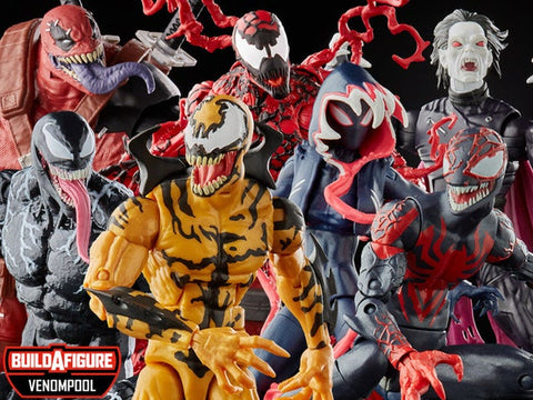 Venom Marvel Legends Wave 2 Set of 6 Figures (Venompool BAF) - Toy Snowman