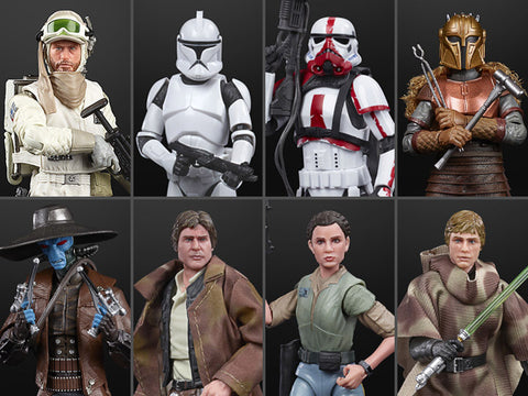 "Star Wars: The Black Series 6"" Wave 37 Set of 8 Figures - Toy Snowman"