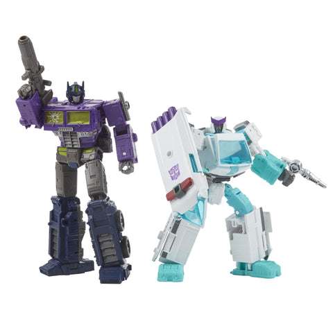 Transformers Generations Selects WFC-GS17 Shattered Glass Ratchet and Optimus Prime, War for Cybertron Collector Figures - Toy Snowman