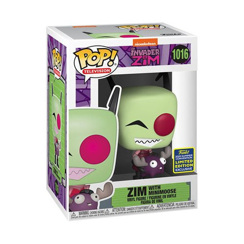 Invader Zim with Minimoose Pop! Vinyl Figure - 2020 Convention Exclusive - Toy Snowman