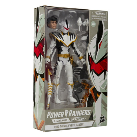 Power Rangers Lightning Collection Dino Thunder White Ranger 6inch Figure - Toy Snowman