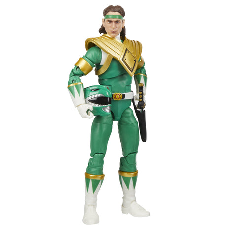 Power Rangers Lightning Collection Mighty Morphin Green Ranger 6-Inch Premium Collectible Action Figure Toy with Accessories - Toy Snowman