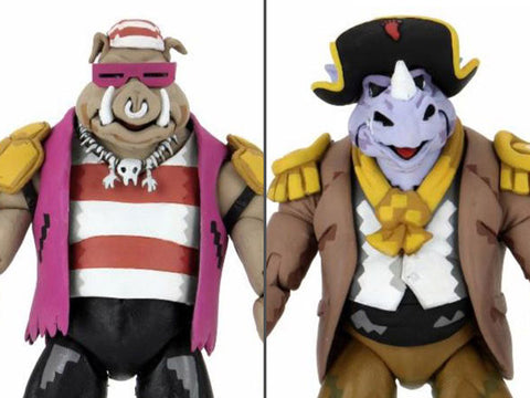 (pre-order) TMNT: Turtles in Time Pirate Rocksteady & Bebop Two-Pack - Toy Snowman