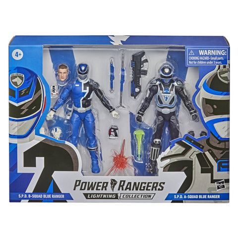Power Rangers Lightning Collection S.P.D. Squad B Blue Ranger Vs. Squad A Blue Ranger 2-Pack 6-Inch Action Figure Toys - Toy Snowman