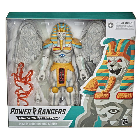 Power Rangers Lightning Collection Monsters Mighty Morphin King Sphinx 8-Inch Premium Collectible Action Figure Toy - Toy Snowman