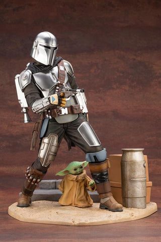 (preorder) The Mandalorian ArtFX Mandalorian & The Child Statue by KOTOBUKIYA - Toy Snowman