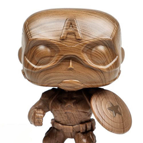 Pop! Marvel: Captain America (Wood Deco) Exclusive - Toy Snowman