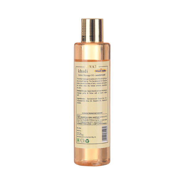 Khadi - Ayurvedic Massage  TAIL - Sandalwood