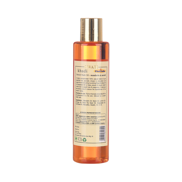 Khadi - Ayurvedic Stretch Mark TAIL - Mandarin & Neroli