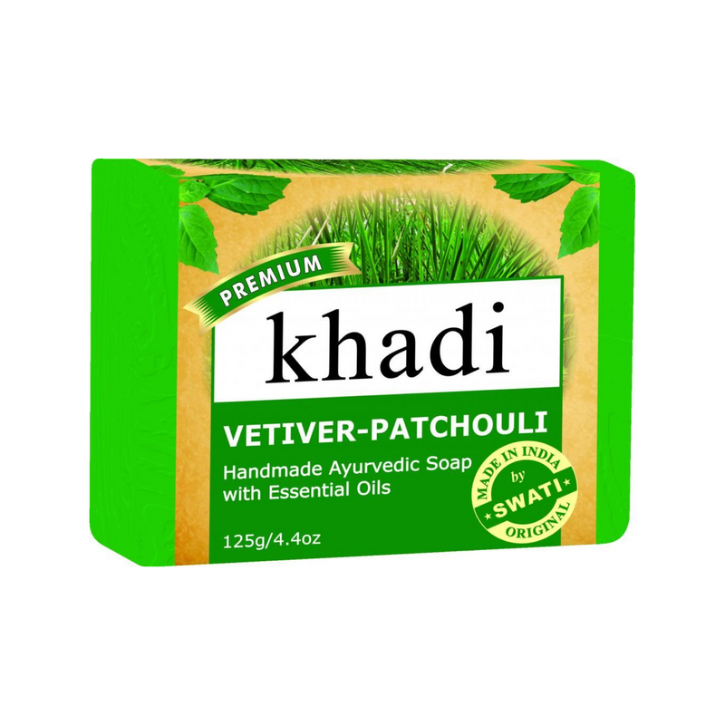 Khadi Premium Vetiver-Patchouli Soap 125 Gm.
