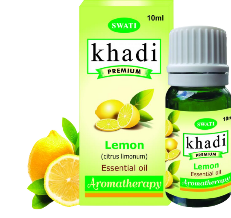 Khadi Premium Essential Oil Lemon (Citrus Limonum) 10 Ml