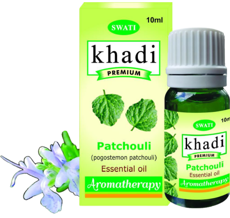 Khadi Premium Essential Oil Patchouli (Pogostemon Patchouli) 10 Ml