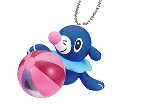Ninten Pokemon Giragira Sunshine Beach Ball Mini Swing Keychain Figure~Ashimari Popplio