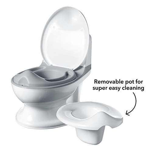 Nuby Potty, My Real Mini Size Toilet with Lid and Flush Sound, Potty Training Toilet for Toddlers
