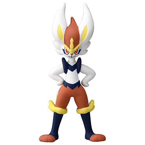 Takaratomy Pokemon Monster Collection Moncolle MS-35 Cinderace Aceburn Figure Figure