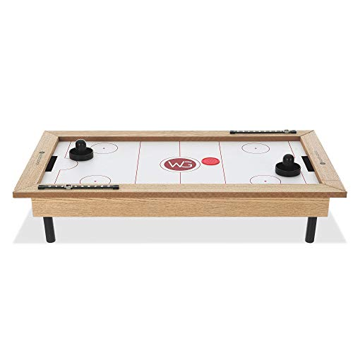 FiNeWaY Wooden Ice Hockey Tabletop Arcade Game - Indoor Outdoor Family Fun Time Desk Table Party Picnic – Ideal for Kids Adults