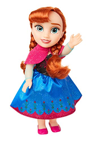 Disney Frozen Anna Toddler Doll with Movie Inspired Blue & Pink Outfit, Shoes and Braided Hair Style - Approximately 14 inches Tall, For Girls Ages 3 Year and Up
