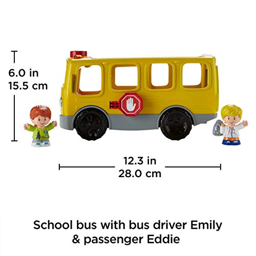 Fisher-Price FKC67 Little People Sit with Me School Bus Activity, Educational Toddler Vehicle Role Play Toy with Music, Lights, Sounds and Songs, Suitable for 1 Year Old