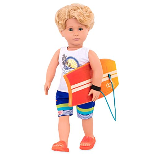 Our Generation BD31197 Gabe Boy Doll with Surfboard, Various