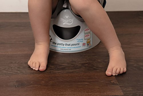 Pourty Easy-to-Pour Potty (Penguin Grey), P1GR
