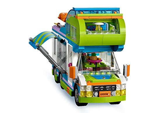 LEGO 41339 Friends Heartlake Mia's Camper Van Playset, Mia and Stephanie Mini Dolls, Build and Play Fun Toys for Kids