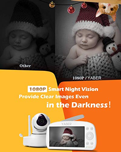 Video Baby Monitor, YABER Baby Monitor with Camera and Audio 1080P 5.5