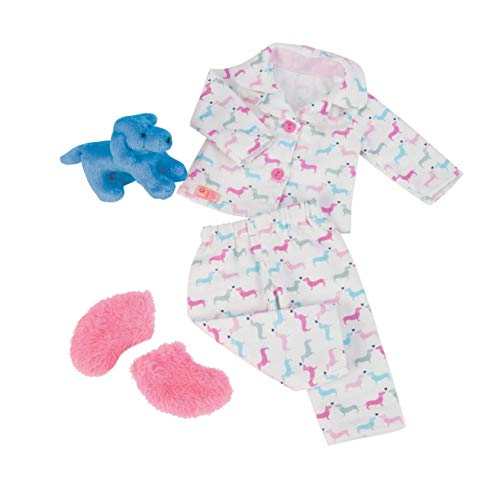 Our Generation BD30214Z Teckel Dog & Pyjama Counting Puppies Pj Outfit for 18