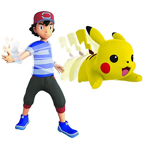 Wicked Cool Toys, LLC Pokemon 4.5 Inch Battle Feature Action Figure - Ash and Pikachu