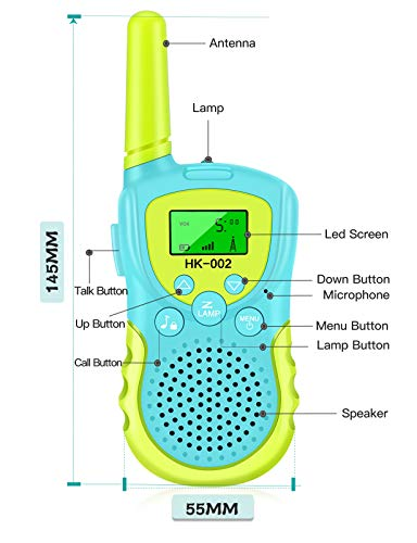 Walkie Talkie for 3-12 Years Old, Walkie Talkies for Kids 8 Channels 2 Way Radio Toy with Backlit LCD Flashlight , 3 Miles Range for Indoor Outside Entertainment